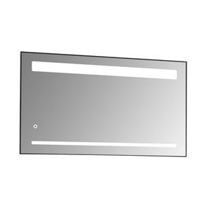 Miroir mural DEL sans cadre pour salle de bain de la collection Sage de GEF, 47 po
