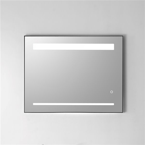 GEF Sage Collection Frameless LED Crystal Clear Wall Bathroom Mirror - 36-in