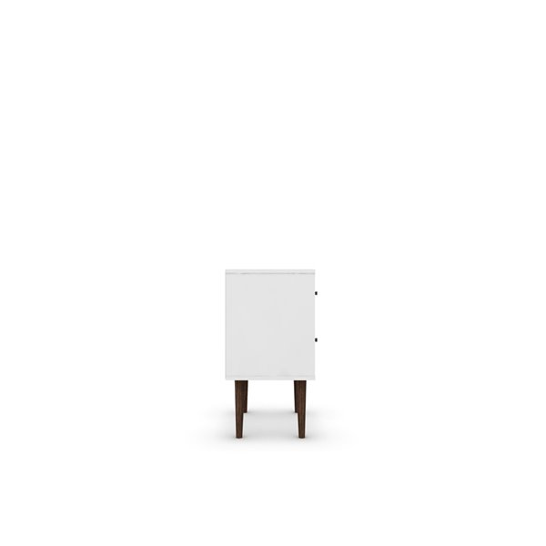Manhattan Comfort Liberty Nightstand 2.0 with 2 Drawers - 17.72-in x 27.09-in - White