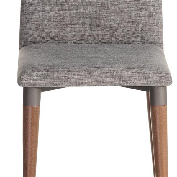 Manhattan Comfort Charles Dining Chair - Wood/Fabric - 17.71-in x 36.22-in - Grey