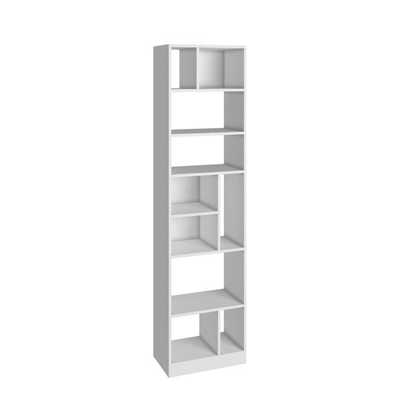 Manhattan Comfort Valenca Bookcase 4.0 with 10 Shelves - 18.7-in x 70.87-in - White