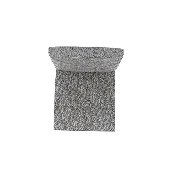 Manhattan Comfort Utopia Chevron Dining Chairs - Wood/Fabric - 17.32-in x 36.64-in - Grey - Set of 2