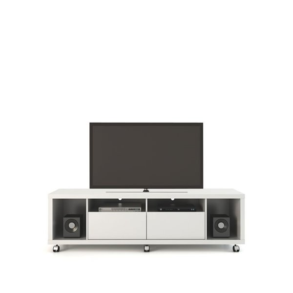 Manhattan Comfort Cabrini TV Stand 1.8 - 71.06-in x 20.86-in x 17.59-in - Gloss White