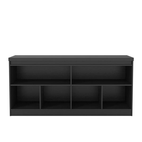 Manhattan Comfort Viennese 6-Shelf Buffet Cabinet - 62.99-in x 28.14-in - Matte Black