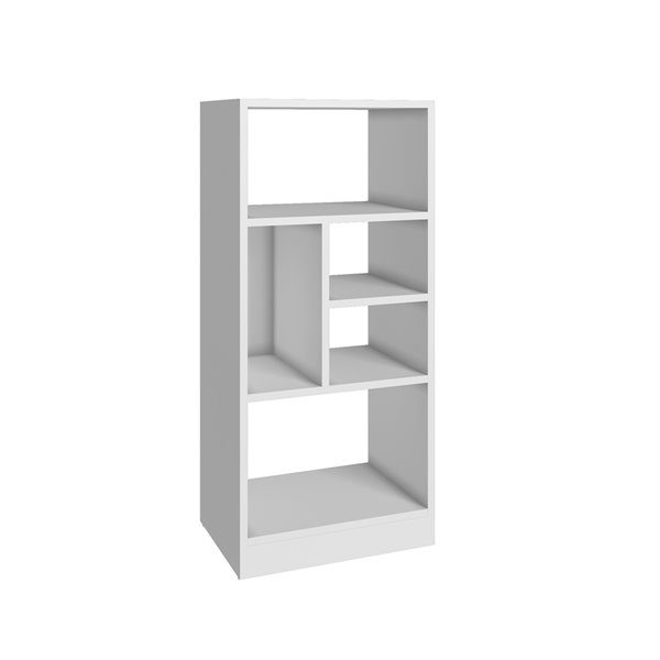 Manhattan Comfort Valenca Bookcase 2.0 with 5 Shelves - 16.14-in x 35.43-in - White