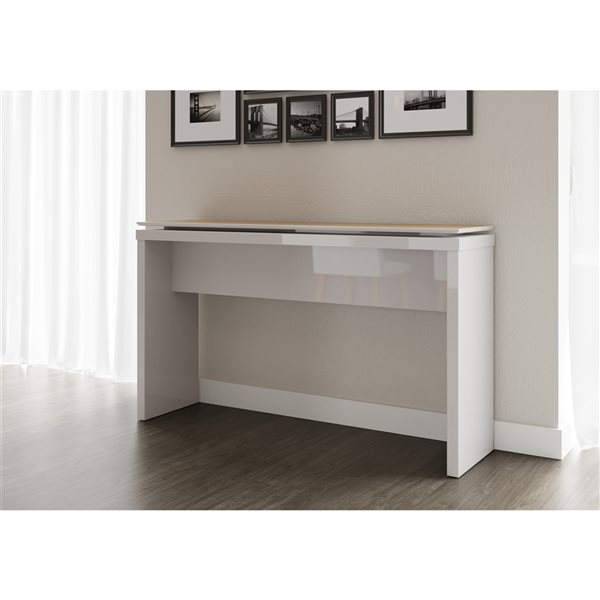 Manhattan Comfort Lincoln Sideboard - 53.14-in x 30.7-in - Off White/Maple Cream
