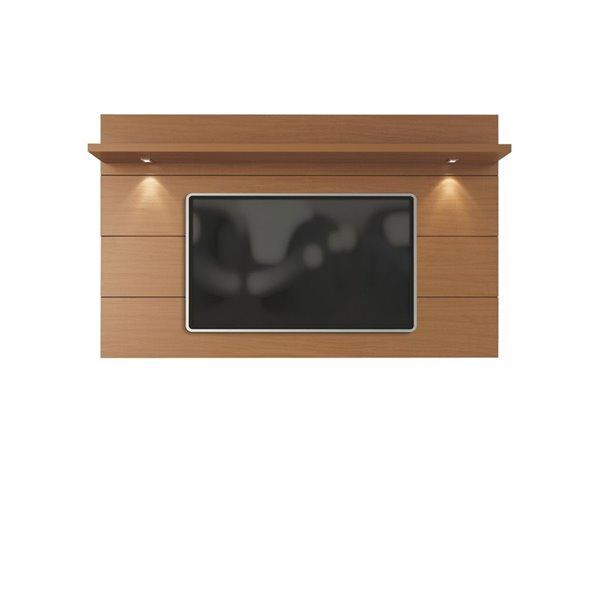 Manhattan Comfort Cabrini Floating Wall TV Panel 2.2 - 85.62-in x 52.28 - Maple Cream
