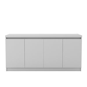 Manhattan Comfort Viennese 6-Shelf Buffet Cabinet - 62.99-in x 28.14-in - Gloss White
