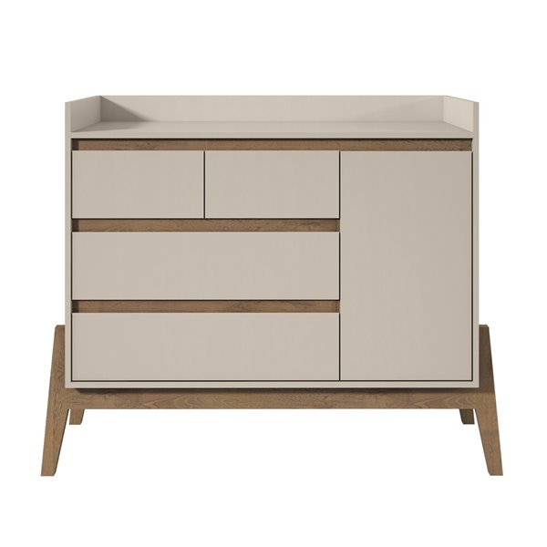Manhattan Comfort Essence Dresser with 4 Drawers - 49.02-in x 39.76-in - Off White