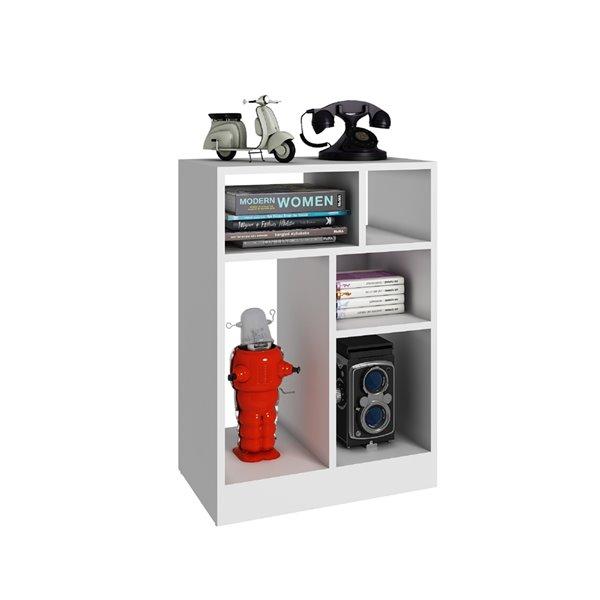 Manhattan Comfort Valenca Bookcase 1.0 - 18.7-in x 26.57-in - White