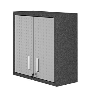 Manhattan Comfort Fortress Floating Garage Cabinet - 30-in x 30.3-in - Grey