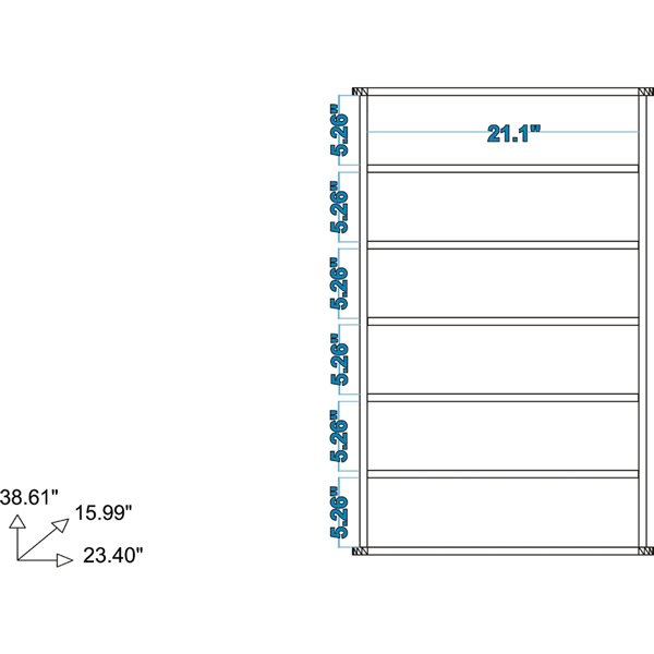 Manhattan Comfort Catalonia Mobile Shoe Closet 2.0 with 6 Shelves - 23.62-in x 38.97-in - White