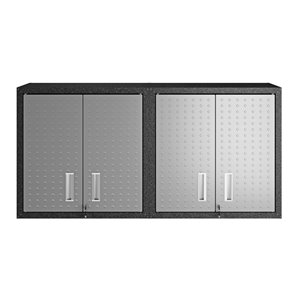 Manhattan Comfort Fortress Floating Garage Cabinet - 30-in x 30.3-in - Grey - Set of 2