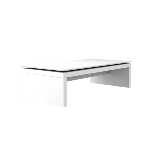 Manhattan Comfort Lincoln Rectangular Coffee Table - 47.24-in x 12.59-in x 23.22-in - Gloss White