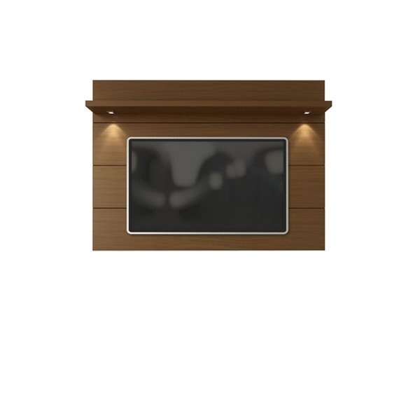 Manhattan Comfort Cabrini Floating Wall TV Panel 2.2 - 85.62-in x 52.28 - Nut Brown