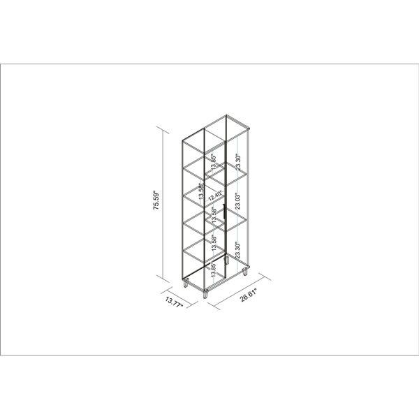 Manhattan Comfort Minetta 8-Shelf Mid-Century Storage Closet - 26.61-in x 75.59-in - White