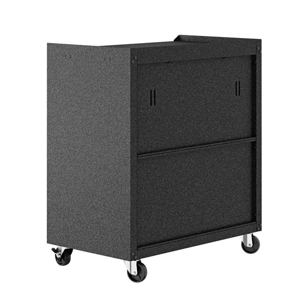 Manhattan Comfort Fortress Mobile Garage Cabinet with Shelves - Metal - 30.3-in x 31.5-in - Grey