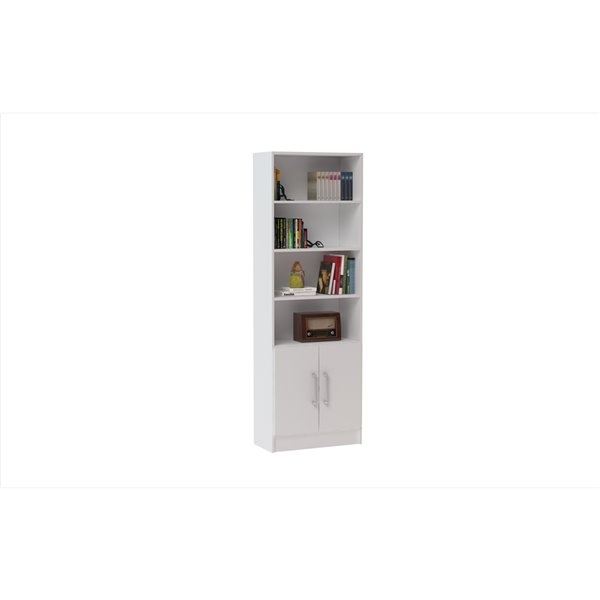 Manhattan Comfort Catarina Cabinet with 6 Shelves - 24.41-in x 71.85-in - White