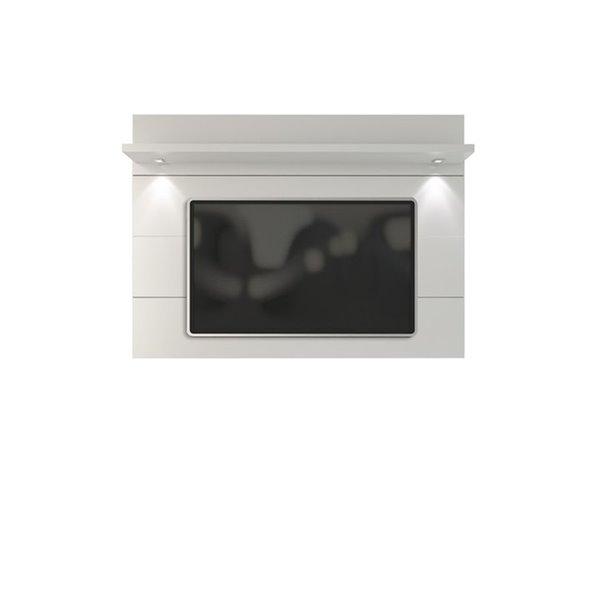 Manhattan Comfort Cabrini Floating Wall TV Panel 1.8 - 71.25-in x 52.28 - Gloss White