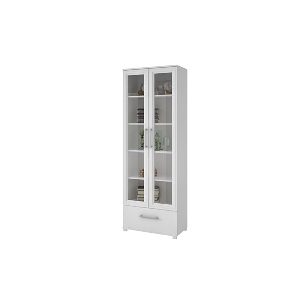 Manhattan Comfort Serra Bookcase 1.0 with 5 Shelves - 27.56-in x 71.85-in - White