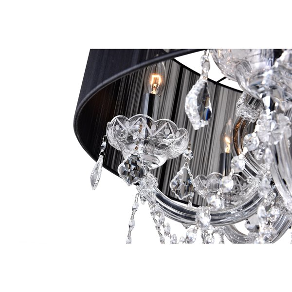 CWI Lighting Maria Theresa Chandelier - 6-Light - 27-in - Chrome