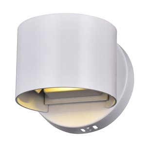 CWI Lighting Lilliana Round Wall Sconce - LED Light - 5-in - White