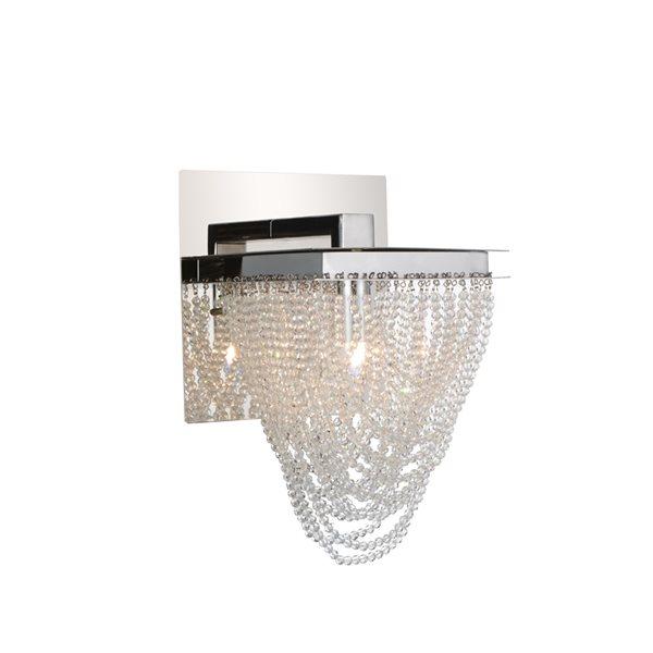CWI Lighting Finke Wall Sconce - 1-Light - 6-in - Chrome