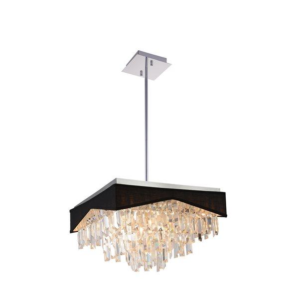 CWI Lighting Havely Chandelier - 13-Light - 18-in - Chrome/Black