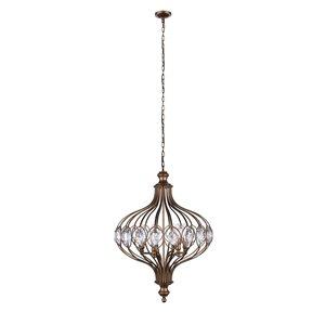 CWI Lighting Altair Chandelier - 3-Light - 14-in - Antique Bronze