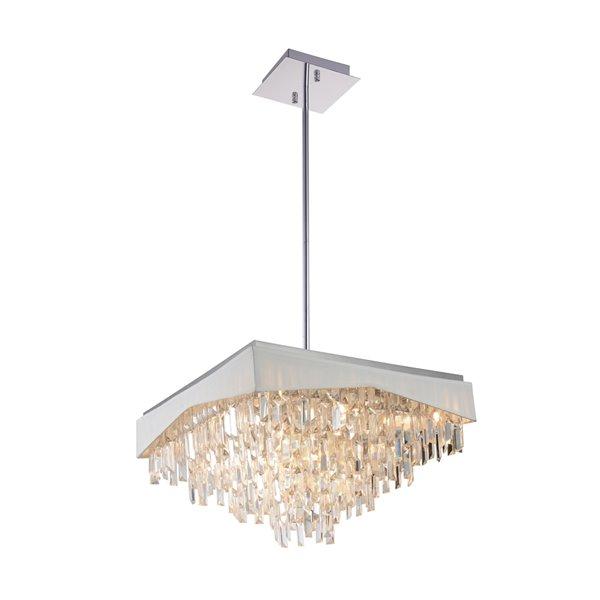 CWI Lighting Havely Chandelier - 17-Light - 24-in - Chrome/White