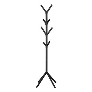 Monarch Specialties Coat Rack - Black Metal - 70-in H