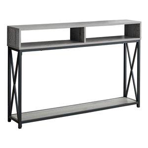 Table console Monarch Specialties au fini gris et noir, 48 po L
