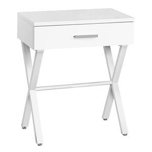 Table d'appoint Monarch Specialties au fini blanc et métal blanc, 24 po H