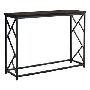 Table console Monarch Specialties au fini expresso et noir, 44 po L