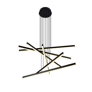 Luminaire suspendu Sirius VONN Lighting, DEL, 32,25 po, noir