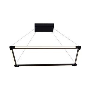 Lustre Atria VONN Lighting, lumière DEL, 29,25 po, noir