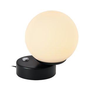 Lampe de table Capri VONN Lighting, DEL, 6 po, noir
