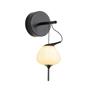 VONN Lighting Lecce Wall Sconce - LED - 4.75-in - Black