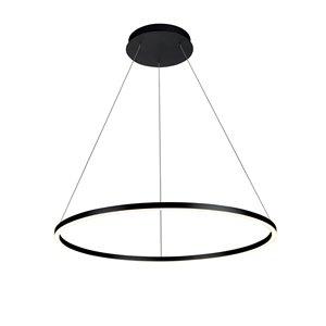 Lustre Tania VONN Lighting, lumière DEL, 39,25 po, noir