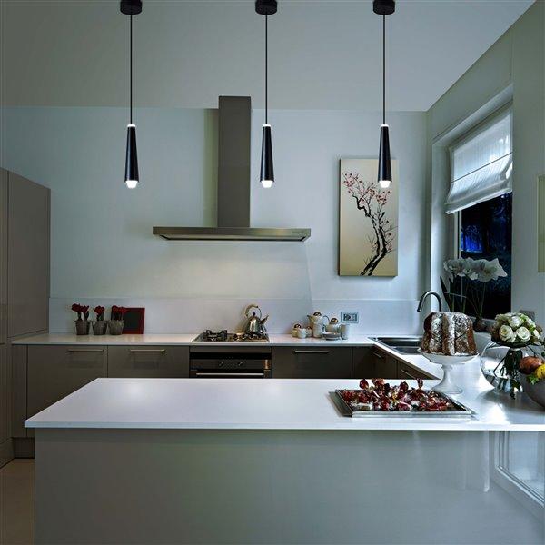 VONN Lighting Expression LED Pendant Light - 1.5-in - Black