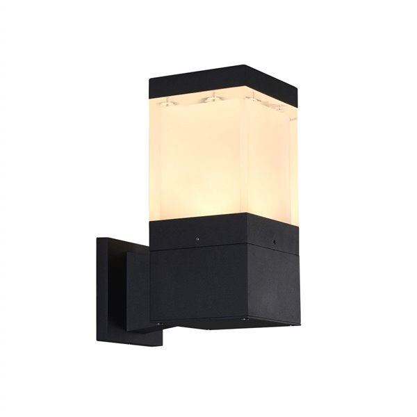 VONN Lighting Square Outdoor Wall Sconce - Integrated LED - 11-in - Matte Black