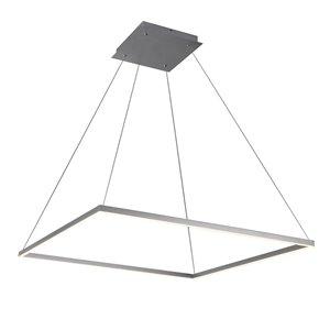 Lustre Atria VONN Lighting, lumière DEL, 39,5 po, argent