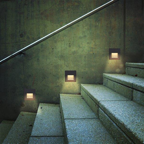 VONN Lighting Outdoor Step Light - LED - 3.25-in - Black