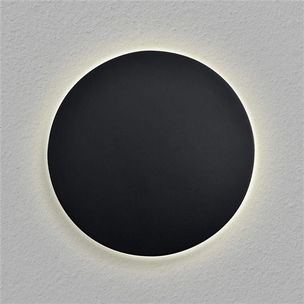 Applique murale ronde Eclipse de VONN Lighting, 7 po, noir