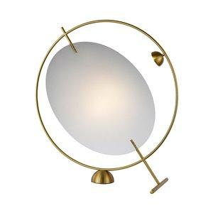 Lampe de table Como VONN Lighting, DEL, 20 po, laiton antique