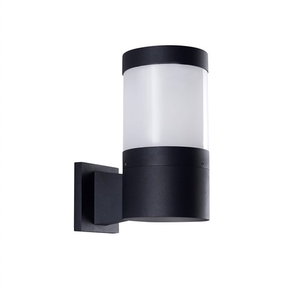 VONN Lighting Round Outdoor Wall Sconce - Integrated LED - 11-in - Matte Black