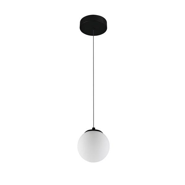 Luminaire suspendu Capri VONN Lighting, DEL, 5 po, noir