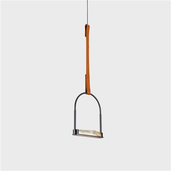 Luminaire suspendu Ravenna VONN Lighting, DEL, 7,75 po, noir