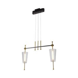 Luminaire suspendu Toscana VONN Lighting, DEL, 29 po, laiton antique