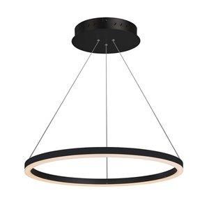 Lustre Tania VONN Lighting, lumière DEL, 23,5 po, noir